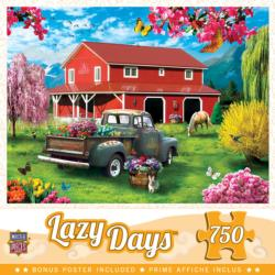 A Farm's Alive Flowers Jigsaw Puzzle