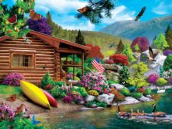 Free to Fly Cottage / Cabin Jigsaw Puzzle