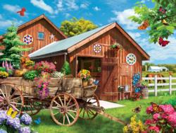 Flying to Flower Farm Flowers Jigsaw Puzzle