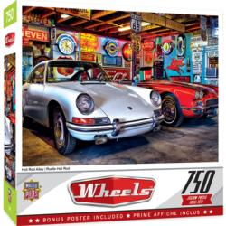 Hot Rod Alley Vehicles Jigsaw Puzzle