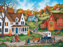 Dinner at Grandmas Americana & Folk Art Jigsaw Puzzle