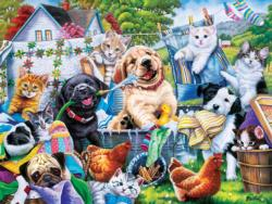 Washing Time Dogs Jigsaw Puzzle