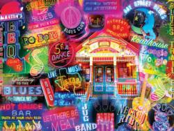 BBQ & Blues Nostalgic / Retro Jigsaw Puzzle