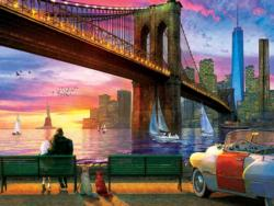 New York Romance Sunrise / Sunset Jigsaw Puzzle