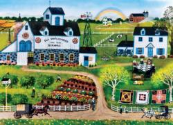 Amish Frolic Countryside Jigsaw Puzzle