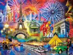 Greetings From Paris France Jigsaw Puzzle