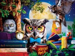 Night Owls Study Group Night Large Piece