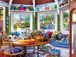 Puzzler's Retreat Domestic Scene Jigsaw Puzzle