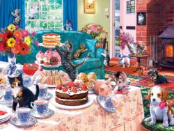 Tea Time Terrors Domestic Scene Jigsaw Puzzle