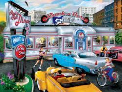 Rock & Rolla Diner Nostalgic / Retro Jigsaw Puzzle