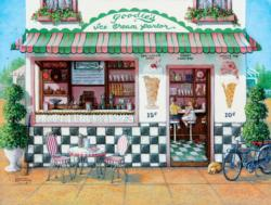 Little Shoppes - Goodies Ice Cream Parlor Food and Drink Jigsaw Puzzle