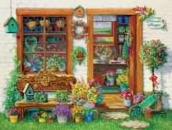 Little Shoppes - Fancy Flower Shoppe Flowers Jigsaw Puzzle