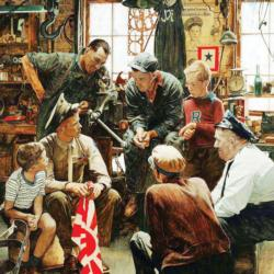 Homecoming Marine People Jigsaw Puzzle