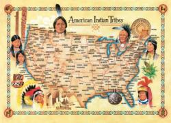 American Indian Tribes (Tribal Spirit) United States Jigsaw Puzzle