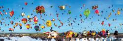 Albuquerque Balloons 1,000 Piece Panoramic Puzzle Skyline / Cityscape Panoramic Puzzle