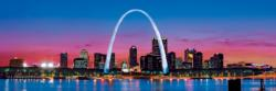 St. Louis 1,000 Piece Panoramic Puzzle St. Louis Panoramic Puzzle