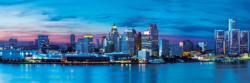 Detroit 1,000 Piece Panoramic Puzzle Skyline / Cityscape Panoramic Puzzle