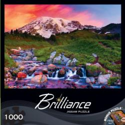 Alpine Sunrise Waterfalls Jigsaw Puzzle