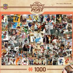 Rockwell Collage (The Saturday Evening Post) Collage Jigsaw Puzzle