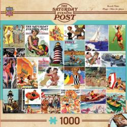 Beach Time Collage (The Saturday Evening Post) Nostalgic / Retro Jigsaw Puzzle