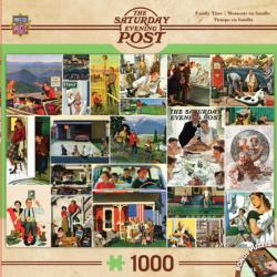Family Time Collage (The Saturday Evening Post) Collage Jigsaw Puzzle