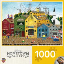 Crows Nest Harbor (Hometown Gallery) Seascape / Coastal Living Jigsaw Puzzle