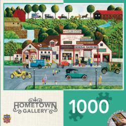 The Old Filling Station (Hometown Gallery) Americana & Folk Art Jigsaw Puzzle