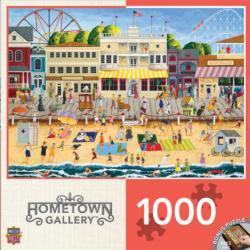 On the Boardwalk Seascape / Coastal Living Jigsaw Puzzle