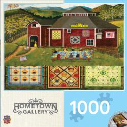 Quilter's Barn (Hometown Collection) Folk Art Jigsaw Puzzle