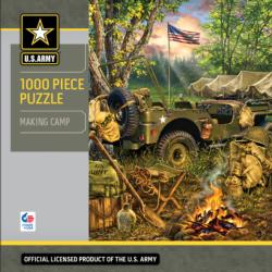 Making Camp Military Jigsaw Puzzle