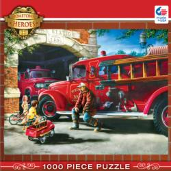 Firehouse Dreams Vehicles Jigsaw Puzzle