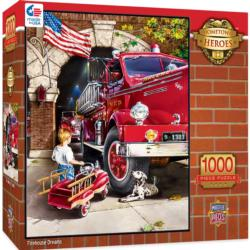 Firehouse Dreams Nostalgic / Retro Jigsaw Puzzle