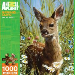 Spring Fawn Flowers Jigsaw Puzzle