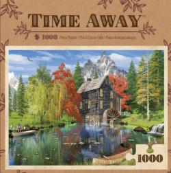 Creekside Mill (Time Away) Lakes / Rivers / Streams Jigsaw Puzzle