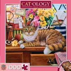 Matilda (Catology) Flowers Jigsaw Puzzle