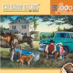 Cowboy Dreams Nostalgic / Retro Jigsaw Puzzle