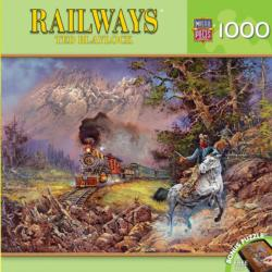 Hold Up On #9 Trains Jigsaw Puzzle