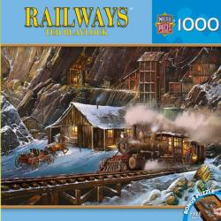 When Gold Ran the Rails Trains Jigsaw Puzzle