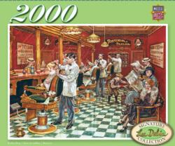 Barber Shop Nostalgic / Retro Jigsaw Puzzle