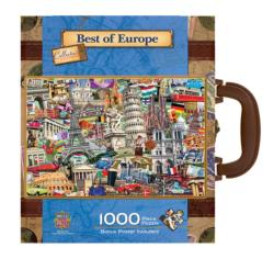 Best of Europe (Suitcase) Landmarks Jigsaw Puzzle