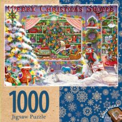 Merry Christmas Shop Bunnies Jigsaw Puzzle