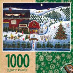 Moonlit Evergreens Snow Jigsaw Puzzle