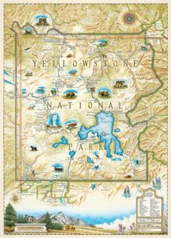 Yellowstone National Park (Xplorer Maps) Maps / Geography Jigsaw Puzzle