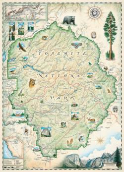 Yosemite National Park - Xplorer Maps Maps Jigsaw Puzzle