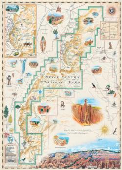 Bryce Canyon National Park - Xplorer Maps Maps Jigsaw Puzzle