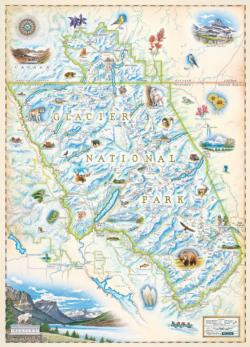 Glacier National Park - Xplorer Maps Maps Jigsaw Puzzle