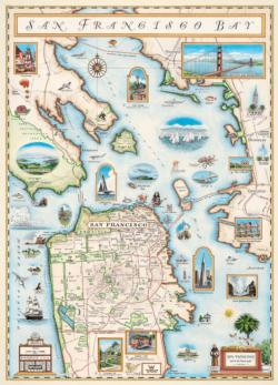 San Francisco - Xplorer Maps Maps Jigsaw Puzzle