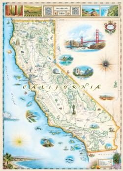 California (Xplorer Maps) Maps / Geography Jigsaw Puzzle