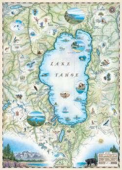 Lake Tahoe (Xplorer Maps) Maps Jigsaw Puzzle