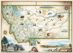 Montana Maps / Geography Jigsaw Puzzle